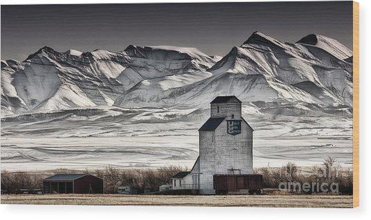Ranchland Elevator Wood Print