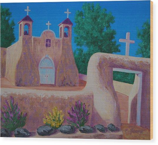 Rancho De Taos II Wood Print