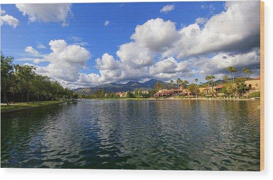 Rancho Santa Margarita Lake Wood Print