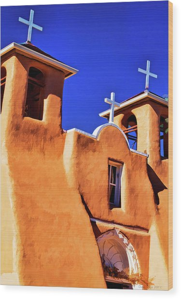 Ranchos De Taos Church Wood Print