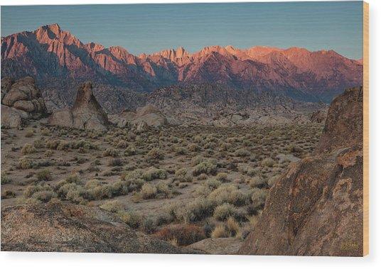 Wood Print featuring the photograph Range Of Light II by Stuart Gordon
