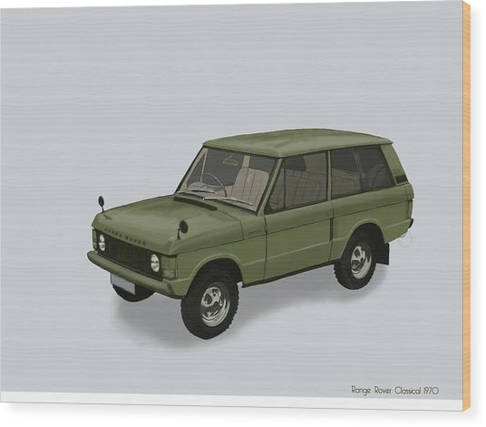 Wood Print featuring the mixed media Range Rover Classical 1970 by TortureLord Art