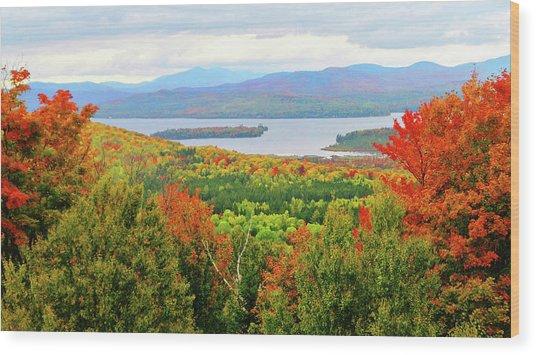 Rangeley Lake And Rangeley Plantation Wood Print