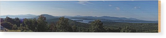 Rangeley Lake Sunset Panoramic Wood Print