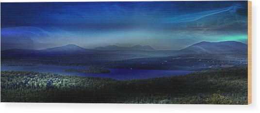 Rangeley Magic Sunset Wood Print