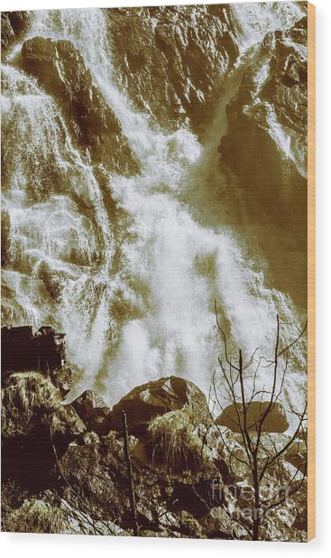 Rapid River Wood Print