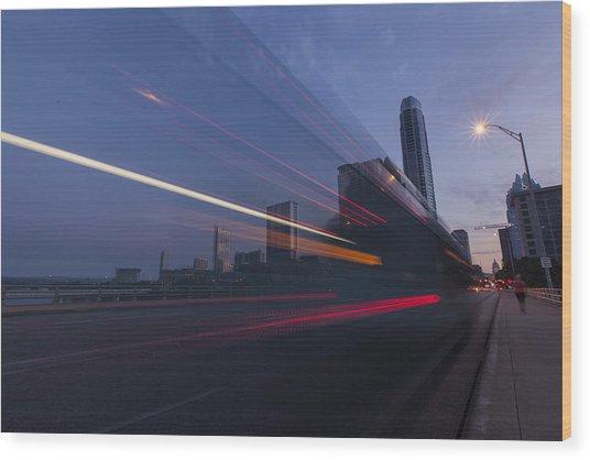 Rapid Transit Wood Print