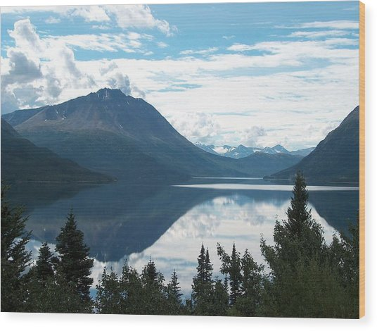 Rare Moment On Tutchi Lake Wood Print by Janet  Hall