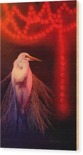 Rasberry Glow Wood Print by Valerie Aune