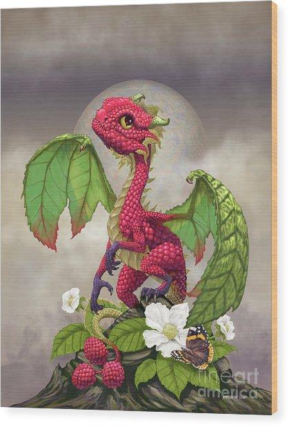 Raspberry Dragon Wood Print