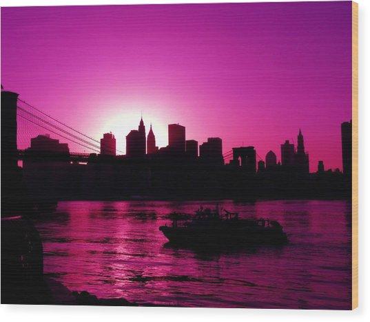 Raspberry Ice In Silhouette Wood Print