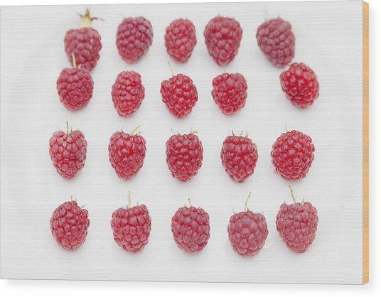 Raspberry Wood Print