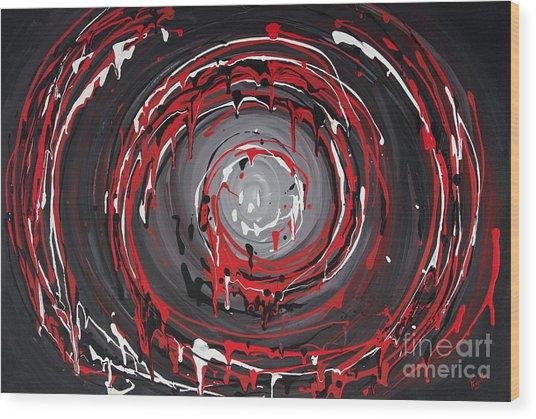 Raspberry Swirls Wood Print