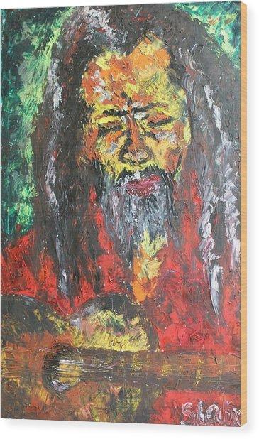 Rasta Man Wood Print