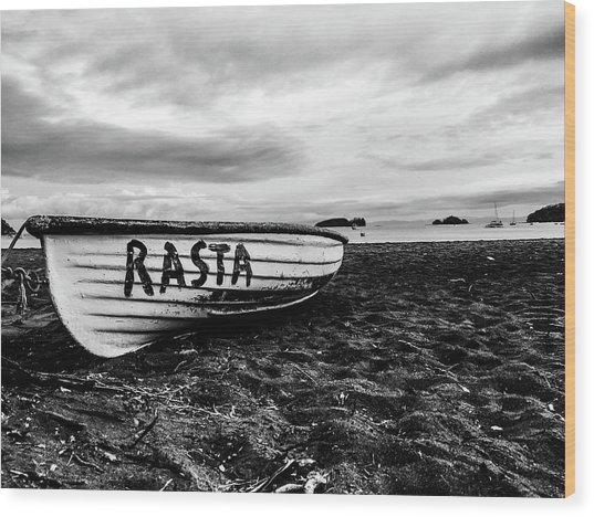 Rasta Noire  Wood Print