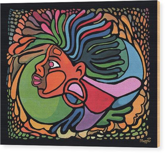 Rasta Queen Wood Print