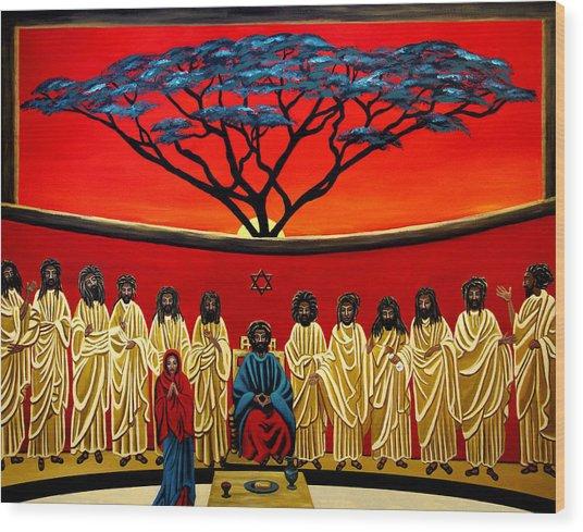 Rastafarian Last Supper Wood Print by EJ Lefavour