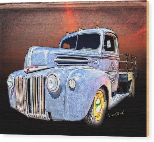 Rat Rod Flatbed Truck Texana Wood Print