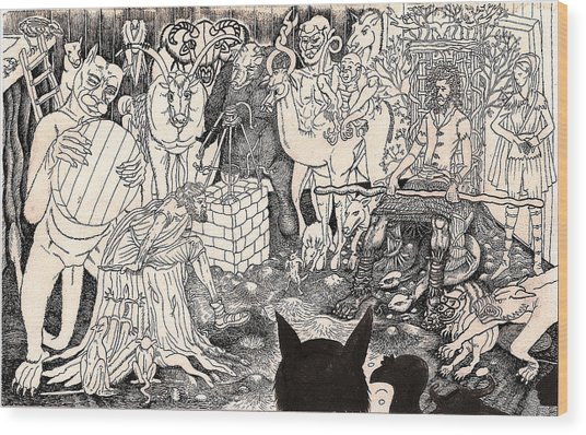Rathbone Meets The Forest Lord Wood Print