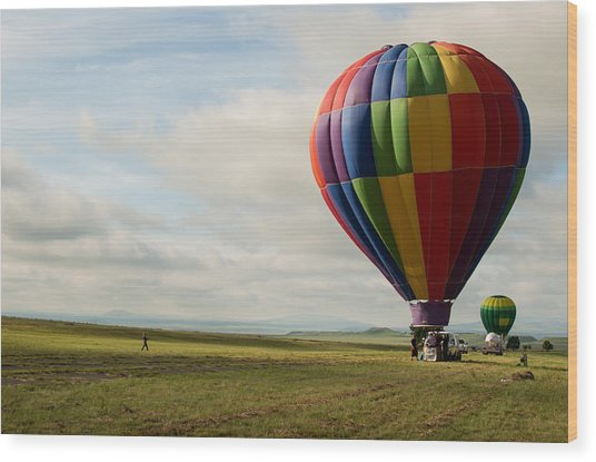 Raton Balloon Festival Wood Print