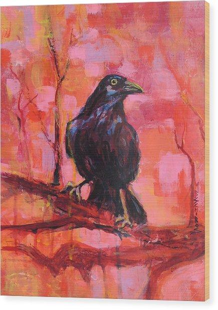 Raven Bright Wood Print
