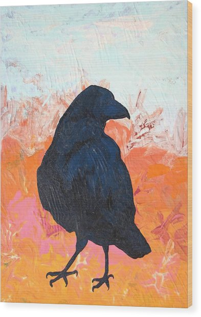Raven IIi Wood Print by Dodd Holsapple
