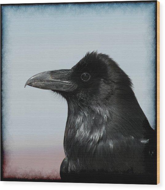 Raven Profile Wood Print