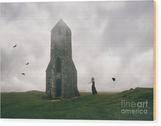 Raven Queen Wood Print