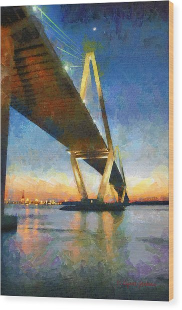 Ravenel Bridge Wood Print