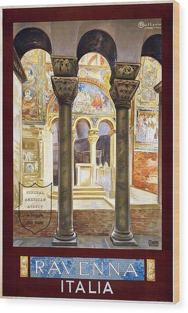 Ravenna, Travel Poster 1925 Wood Print