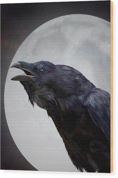 Ravensong Wood Print