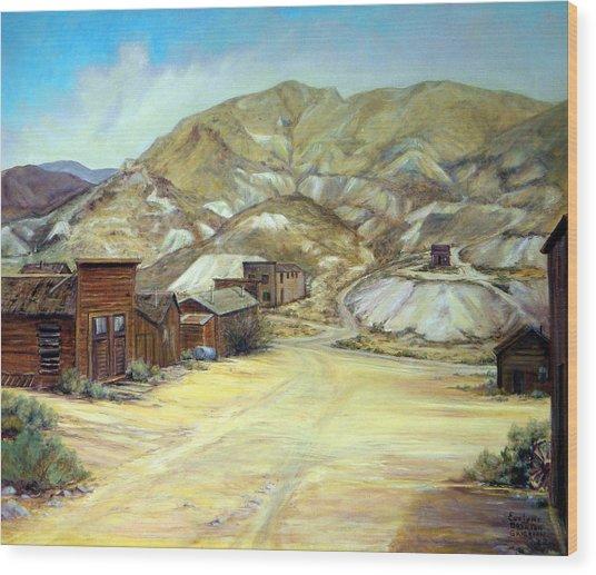 Rawhide Nevada Wood Print by Evelyne Boynton Grierson