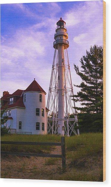 Rawley Point Lighthouse Wood Print by Chuck De La Rosa