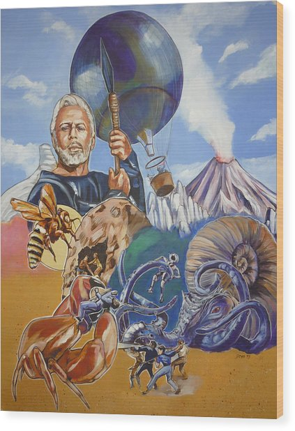 Ray Harryhausen Tribute The Mysterious Island Wood Print