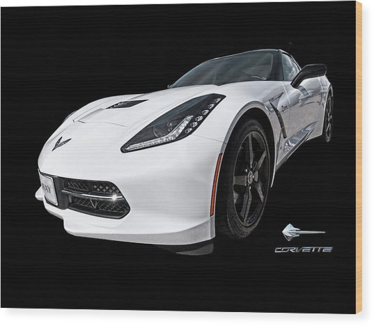 Ray Of Light - Corvette Stingray Wood Print