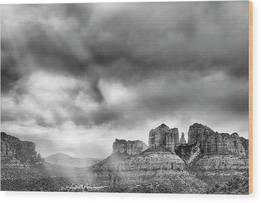 Ray Over Bell Rock Wood Print
