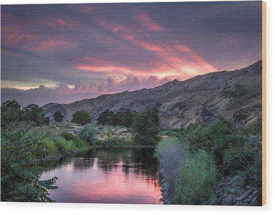 Rays Of Sunset Wood Print