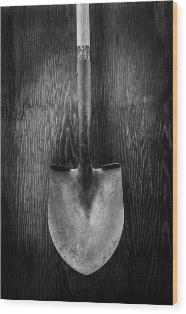 Razorback Shovel Wood Print