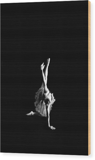 Reaching Ballerina Wood Print
