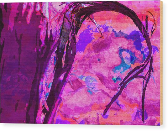 Reaching Beyond The Blue Wood Print