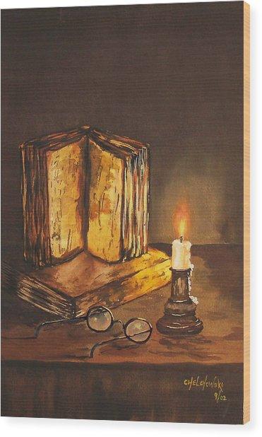 Reading Table Wood Print