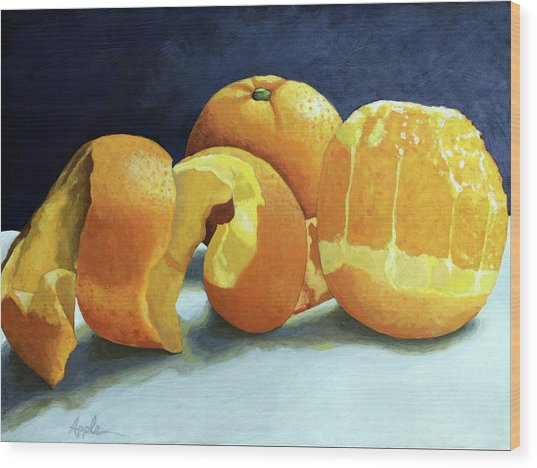 Ready For Oranges Wood Print