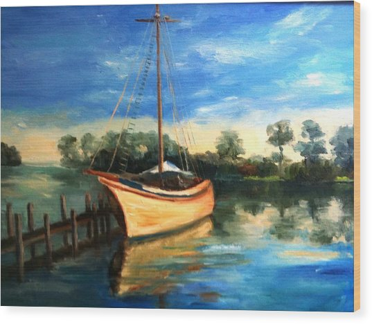 Ready To Sail Wood Print