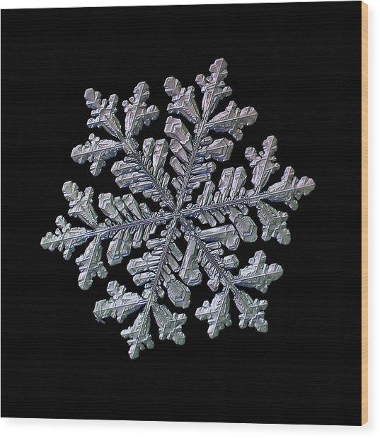 Real Snowflake - Hyperion Black Wood Print