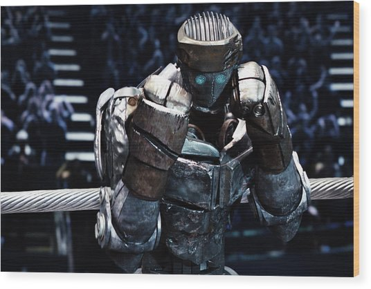 Real Steel Atom Wood Print