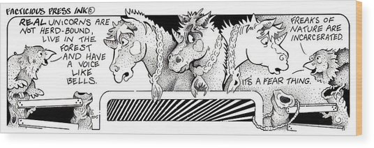 Real Unicorns Fpi Cartoon Wood Print