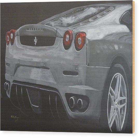 Rear Ferrari F430 Wood Print