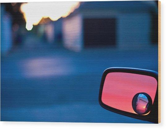 Rearview Mirror Wood Print