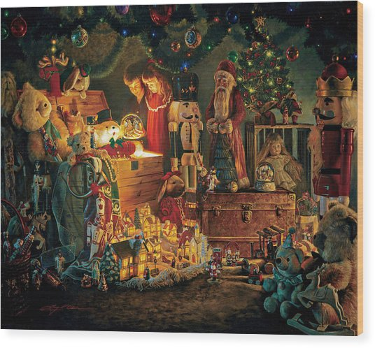 Wood Print featuring the painting Reason For The Season by Greg Olsen
