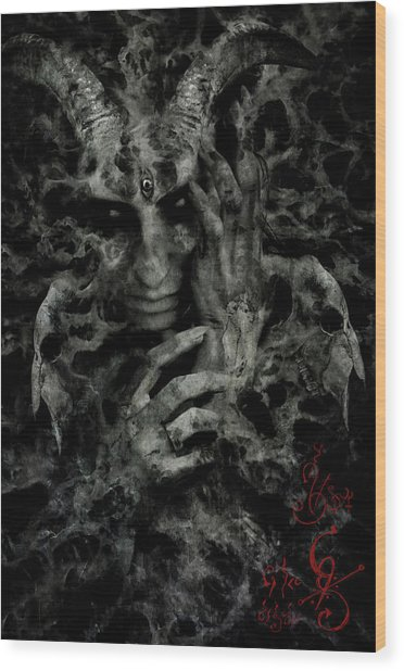 Rebirth Wood Print by Cambion Art